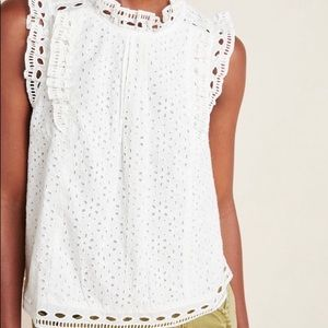 Anthropologie Tilly Eyelet Top (NWT)